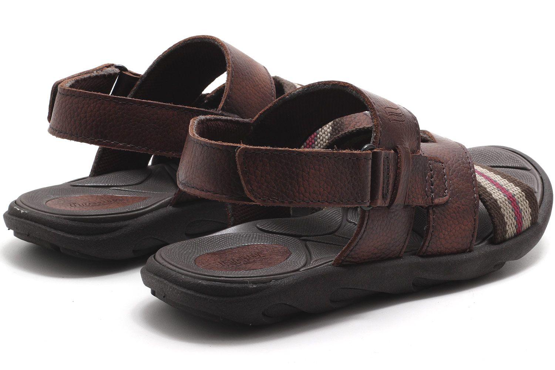 Sandália Itapuã Couro Sport Velcro Masculino 18001  - Ian Calçados