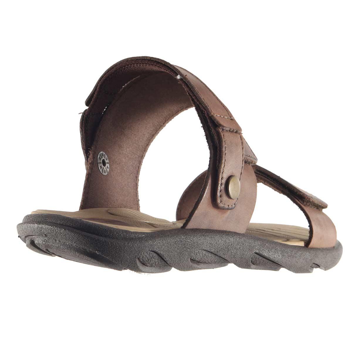 Sandália Itapuã Street Chinelo Masculina Couro Legítimo Velcrom 15108  - Ian Calçados