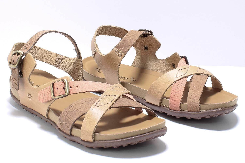 Sandália New Face Fashion Feminina Couro Comfort Tiras 36706  - Ian Calçados