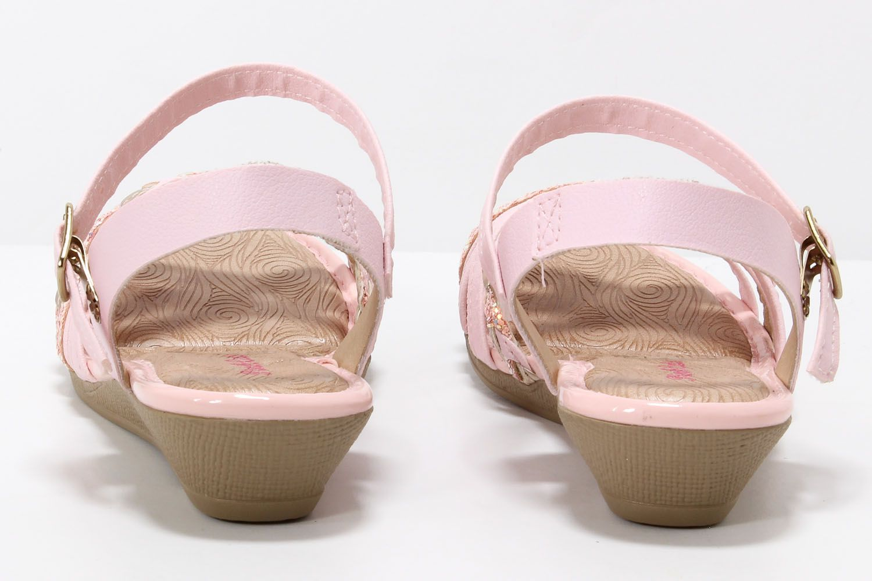 Sandália Pink Cats Menina Anabela Infantil Tiras V0294  - Ian Calçados