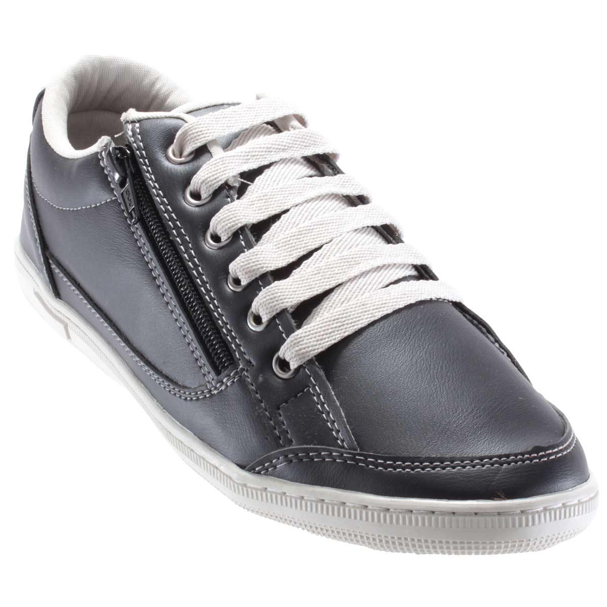 Sapatênis Doc Shoes Sintético Casual Ziper Confortável 7124C  - Ian Calçados