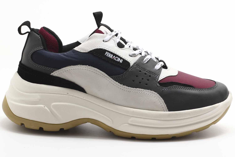 Sapatênis Ferracini Rio Sneaker Couro Masculino 9077-563