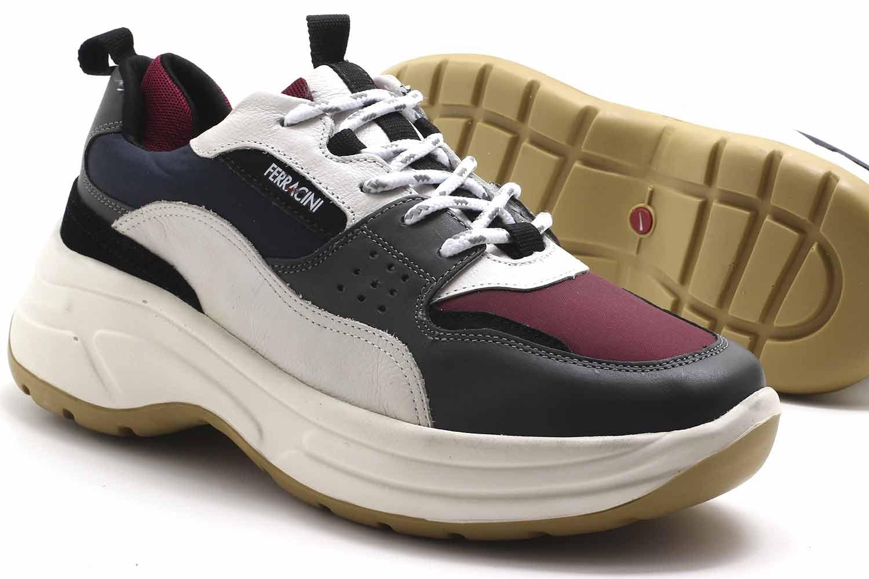 Sapatênis Ferracini Rio Sneaker Couro Masculino 9077-563  - Ian Calçados
