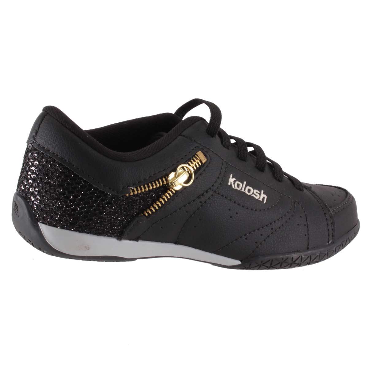 Sapatênis Kolosh Tênis Feminino Casual Ziper Elástico C0563  - Ian Calçados