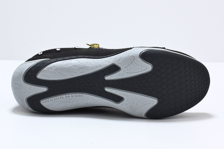 Sapatênis Kolosh Tênis Feminino Ziper Strass Elástico C1282R  - Ian Calçados
