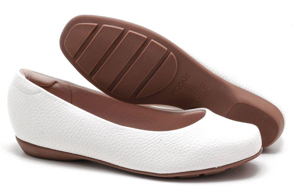 Sapatilha Modare Ultra Conforto Básico Perolado Feminina 7016300  - Ian Calçados