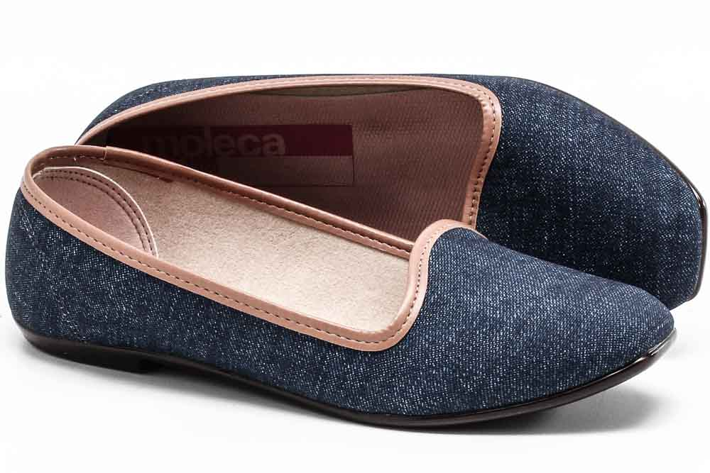 Sapatilha Moleca Tecido Jeans Feminino 5255615