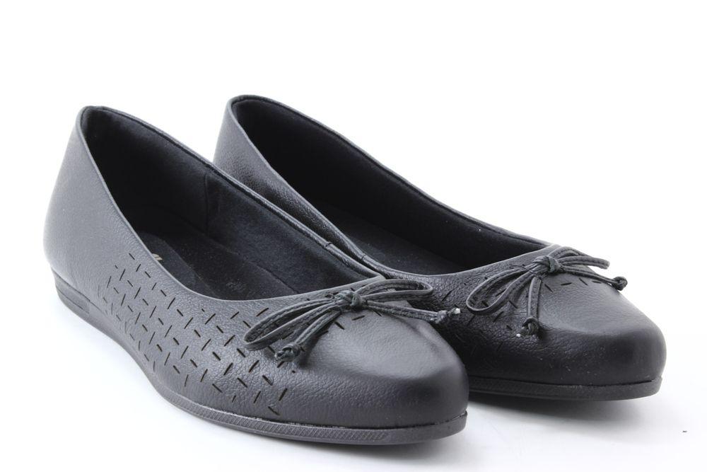 Sapatilha Usaflex Laço Couro Conforto Feminino AB6203  - Ian Calçados