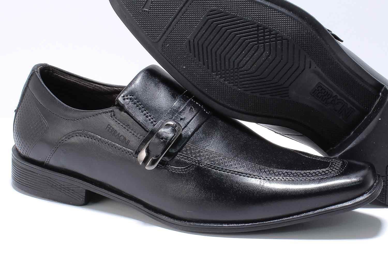 Sapato Ferracini Chile Social Couro Fivela 5075-223  - Ian Calçados