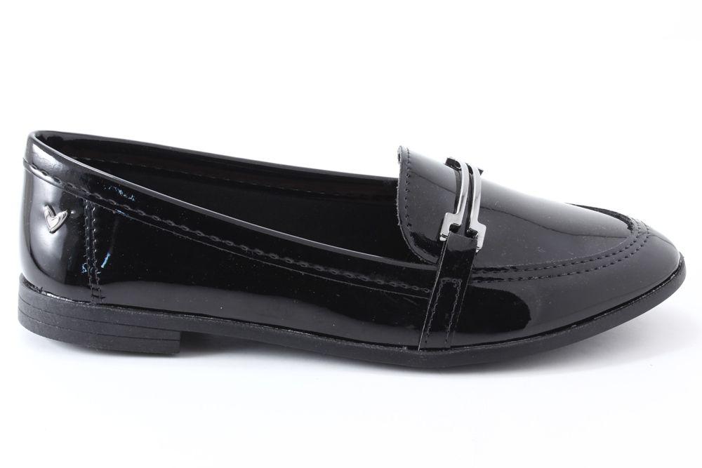 Sapato Mississipi Feminino Oxford Verniz Metal Q0372