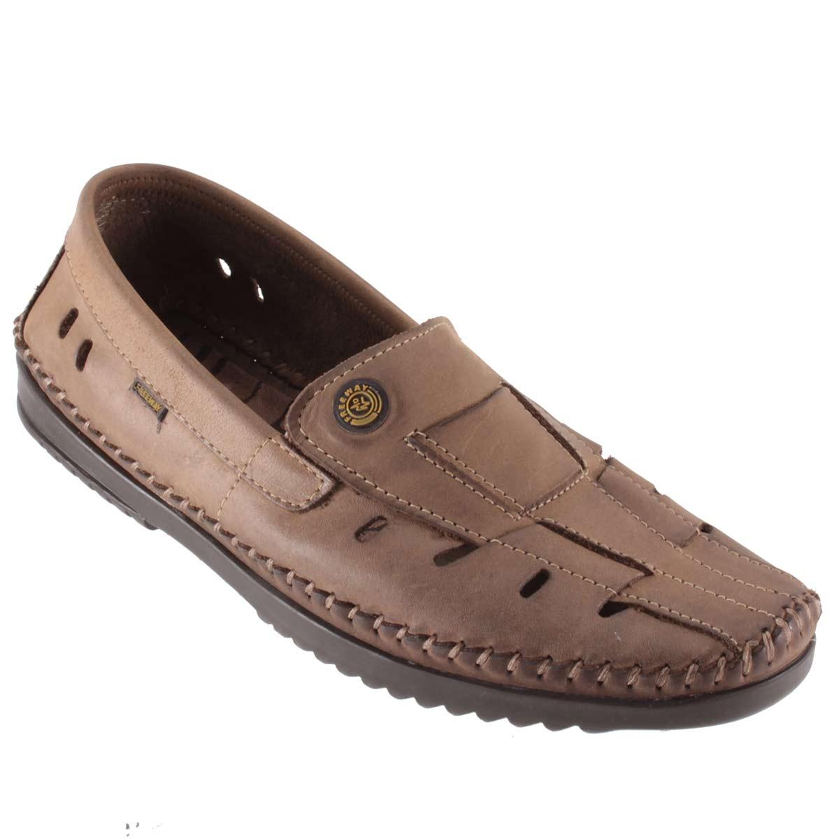 Sapato Mocassim Freeway Masculino Sapatilha Couro Ventilado Logan-2  - Ian Calçados