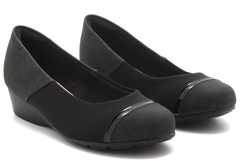 Sapato Modare Anabela Nobuck Recortes 7014263  - Ian Calçados
