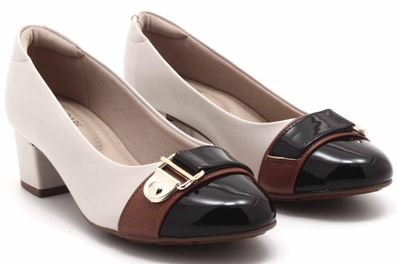 Sapato Modare Salto Bloco Fivela 7316134
