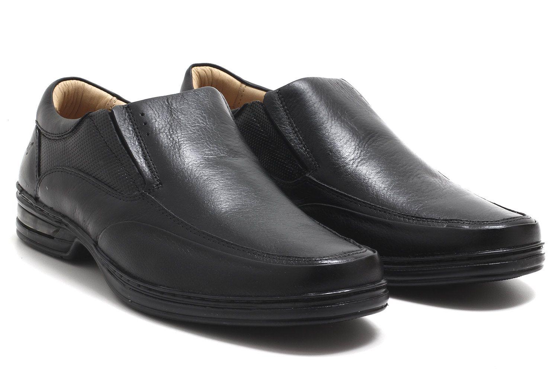 Sapato Rafarillo Conforto Duo Air Couro Masculino 39001  - Ian Calçados