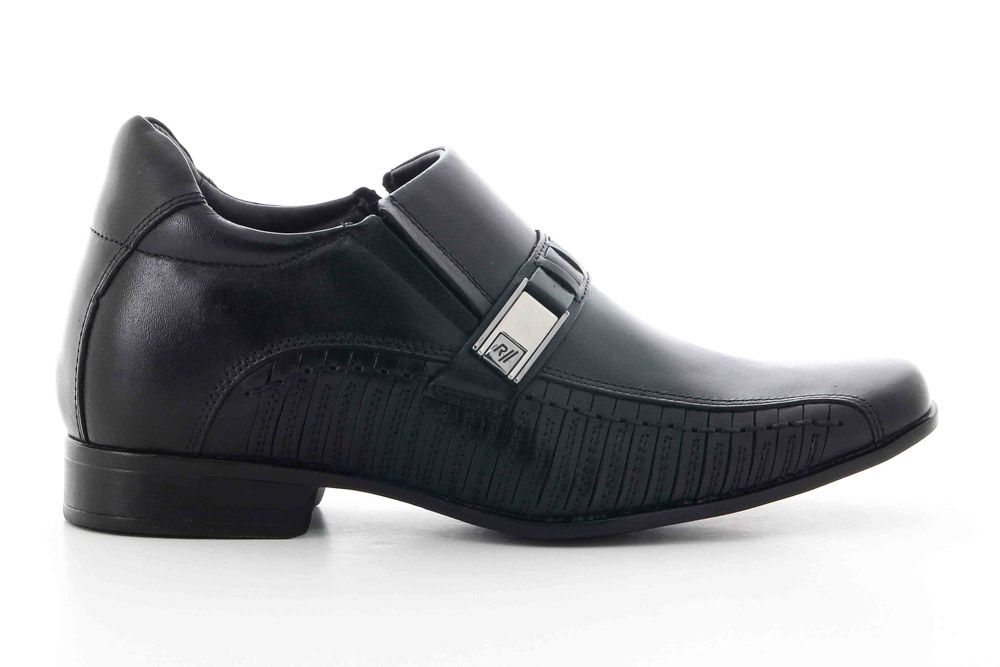 Sapato Rafarillo Masculino Couro 7cm Fivela 3267  - Ian Calçados