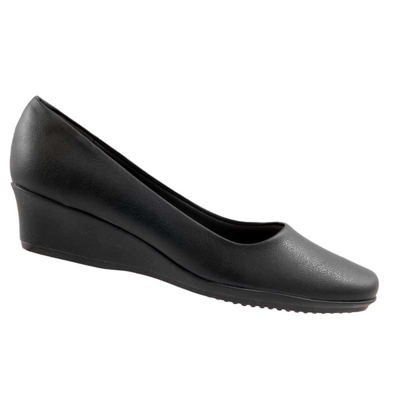 Sapato Scarpin Piccadilly Salto Anabela Palmilha Macia 143027  - Ian Calçados