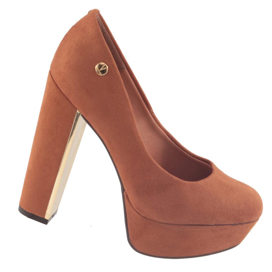 Sapato Scarpin Vizzano Camurça Flex Feminino 1217100  - Ian Calçados