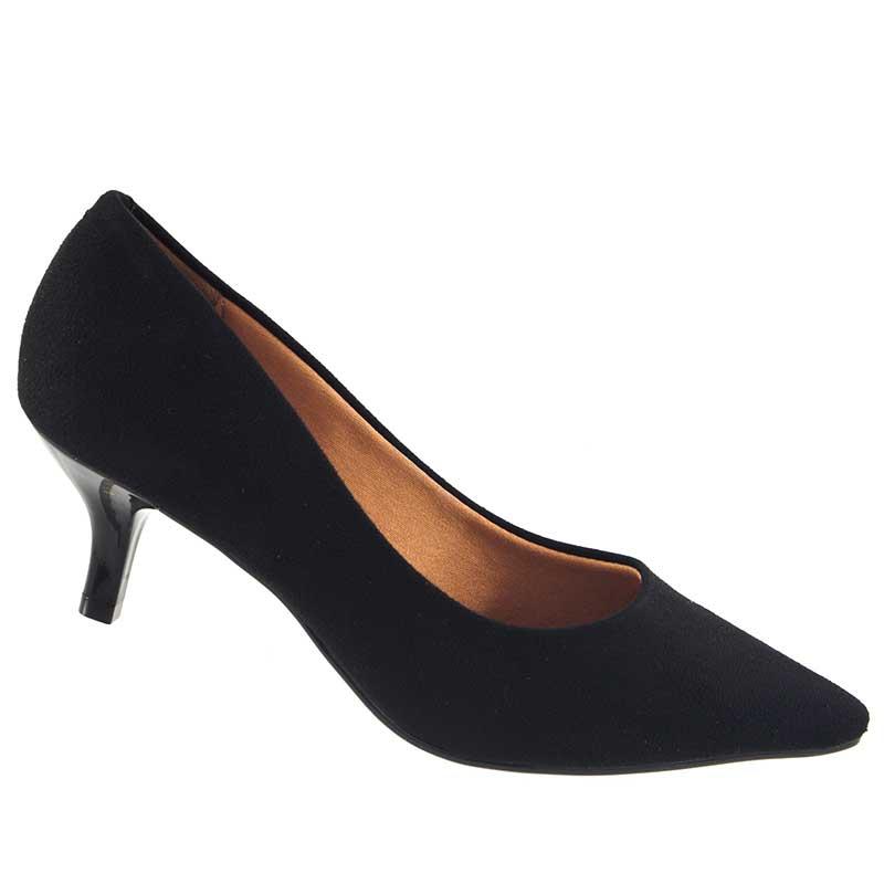 Sapato Scarpin Vizzano Camurça Flex Salto Baixo 1122600  - Ian Calçados