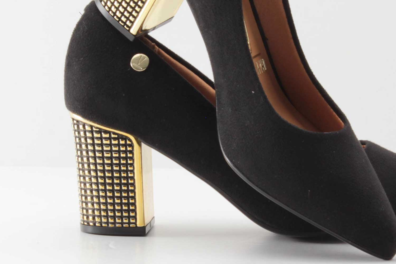 Sapato Scarpin Vizzano Feminino Camurça 1290200  - Ian Calçados