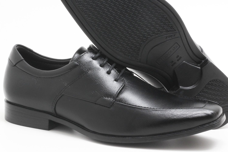 Sapato Social Democrata Cosmo Flex Stretch Cadarço Masculino 013114