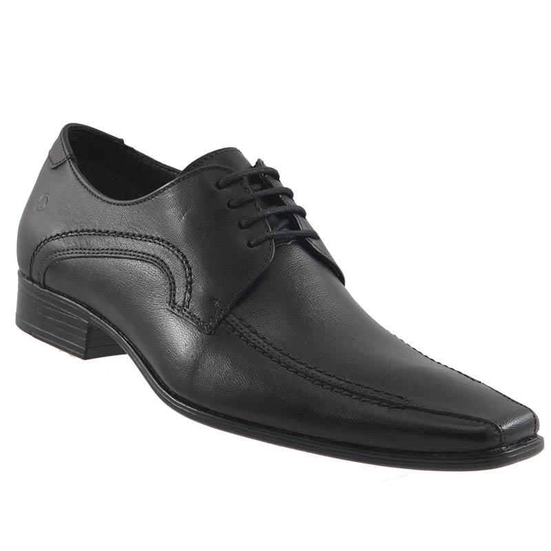 Sapato Social Democrata Denver Couro Masculino Cadarço Lindo 450045  - Ian Calçados