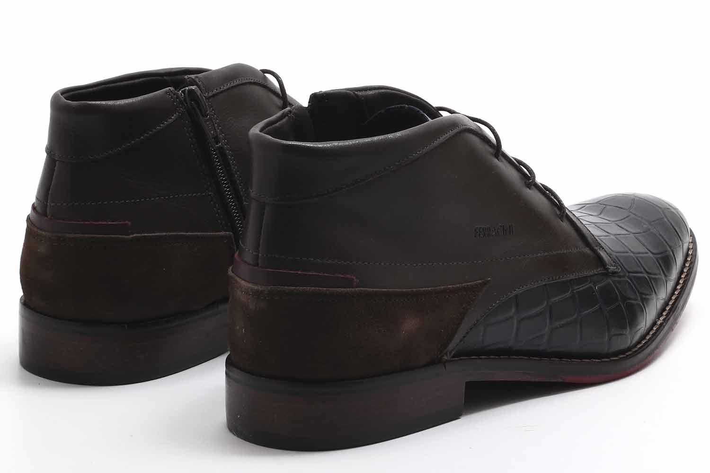 Sapato Social Ferracini Caravaggio Botinha Couro 5678-411  - Ian Calçados