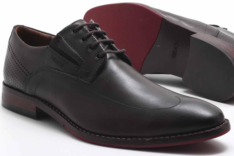 Sapato Social Ferracini Caravaggio Couro Masculino 5685-262  - Ian Calçados