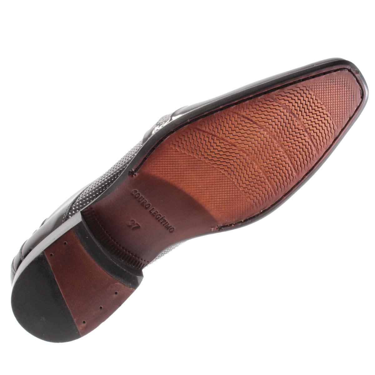 Sapato Social Gofer Masculino Couro Verniz Legítimo 0761  - Ian Calçados