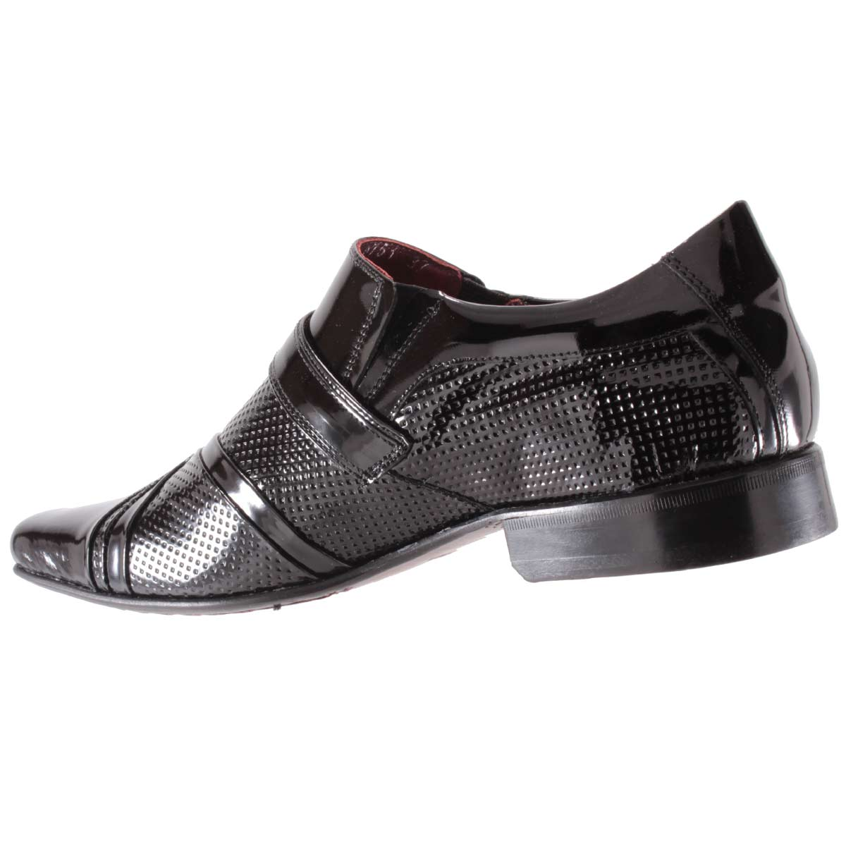 Sapato Social Gofer Masculino Fivela Couro Verniz Legítimo 0751A  - Ian Calçados