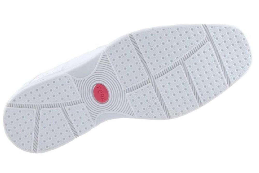 Sapato Social Masculino Fork Amortecimento Air Soft Confort Branco 8919  - Ian Calçados