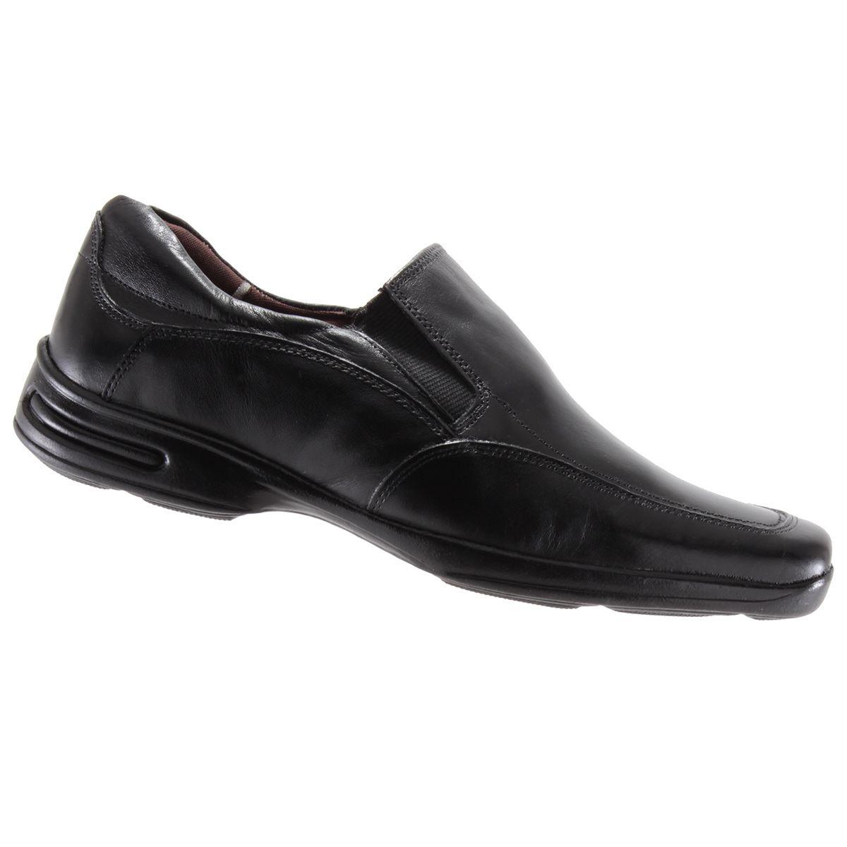 Sapato Social Trilhos Masculino Conforto Couro 0074