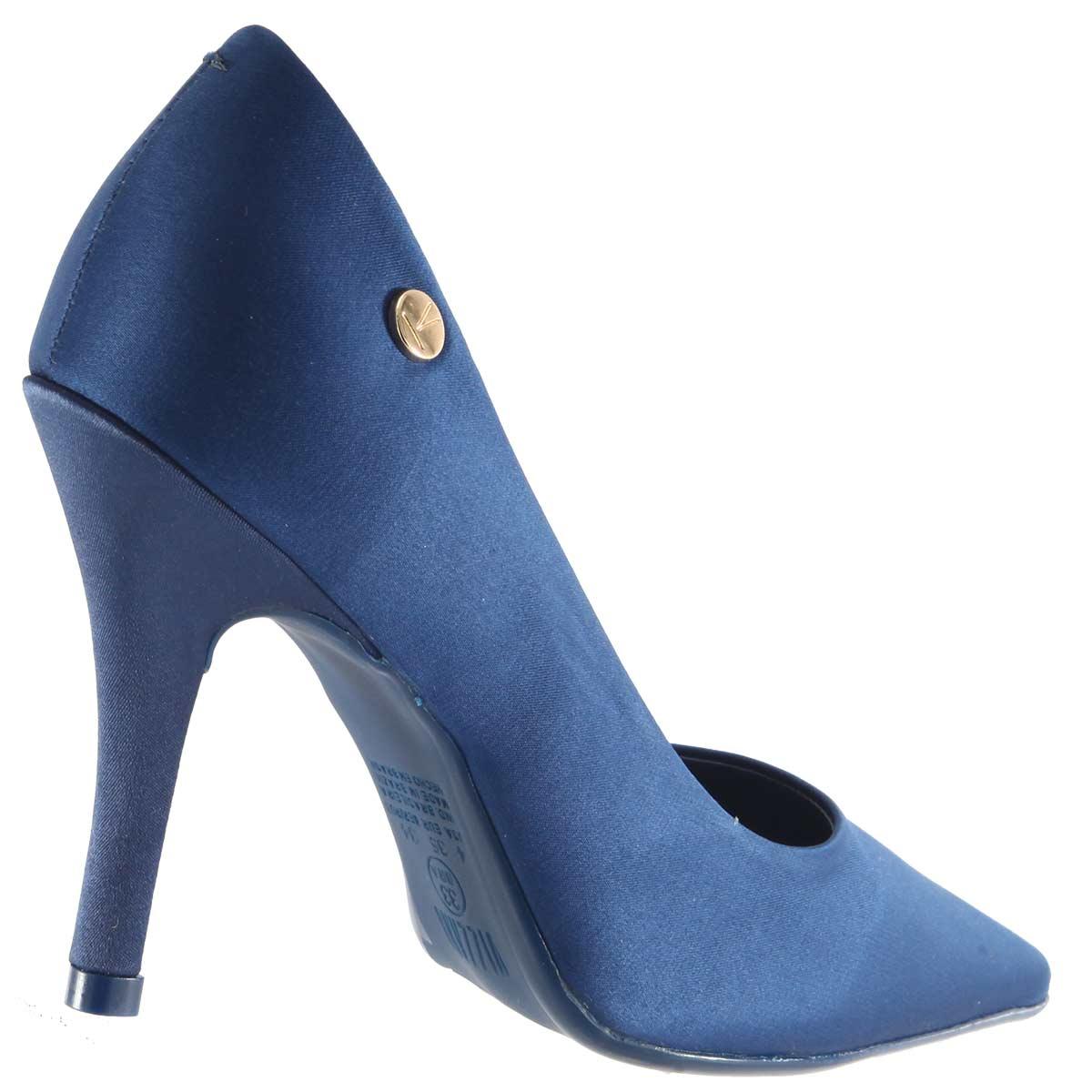 Sapato Vizzano Scarpin Feminino Cetim Glamour 1184301  - Ian Calçados