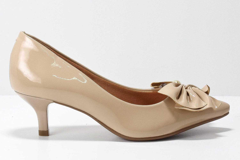 Sapato Vizzano Scarpin Feminino Laço Verniz 1122651  - Ian Calçados