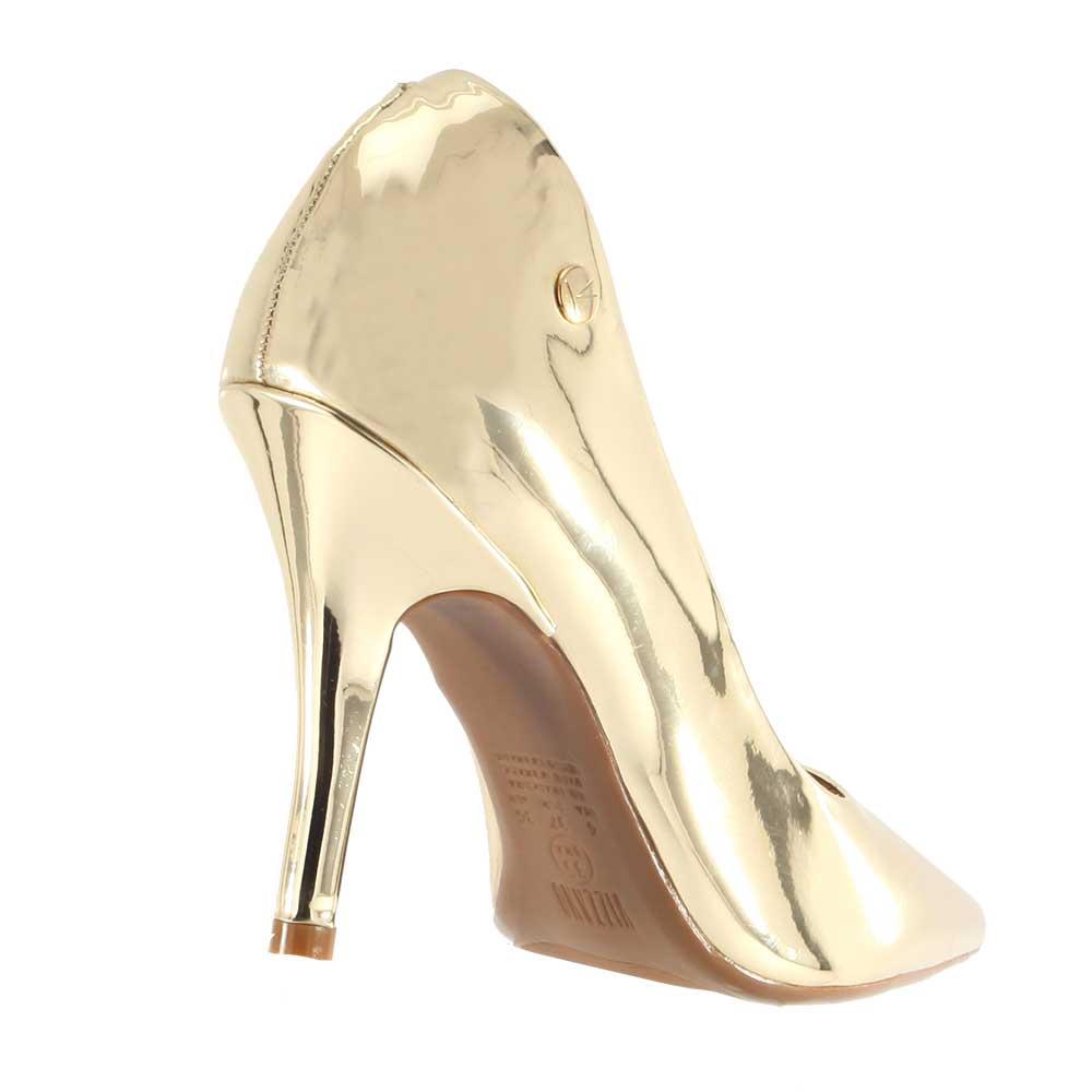 Sapato Vizzano Scarpin Metal Espelhado 1184101  - Ian Calçados