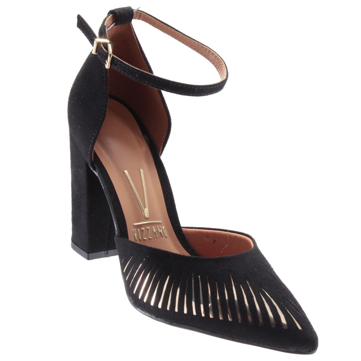 Scarpin Vizzano Sapato Feminino Salto Alto Metalizado 1264105  - Ian Calçados