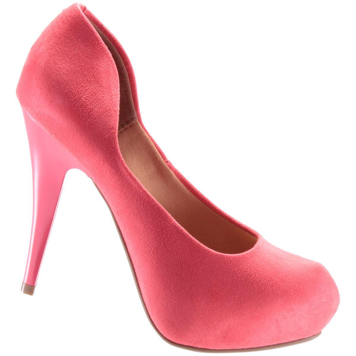 Scarpin Vizzano Sapato Meia Pata Feminino Camurça 1143300  - Ian Calçados