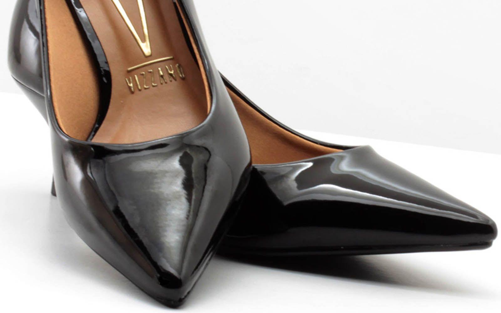 Scarpin Vizzano Sapato Verniz Salto Baixo 1122628  - Ian Calçados