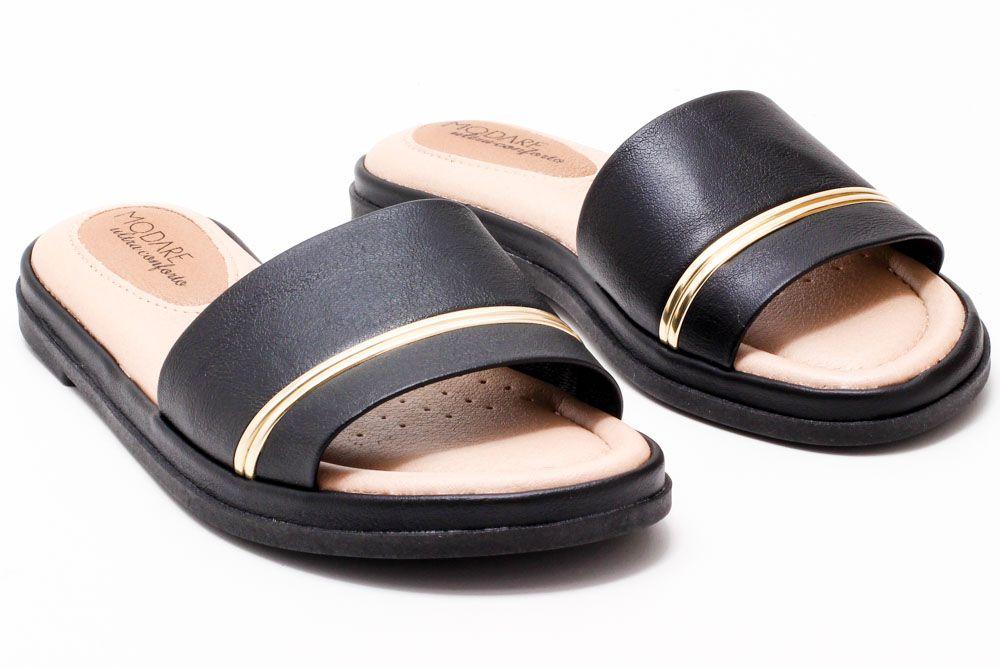 Tamanco Modare Slide Listra Ultra Conforto 7139100  - Ian Calçados