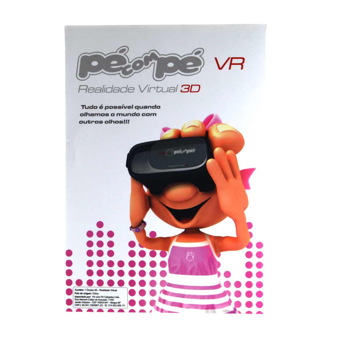 Tênis Pé com Pé Menina VR Realidade Virtual 3D 60001  - Ian Calçados