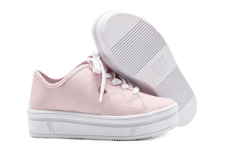 Tênis Pink Cats Casual Infantil Menina V0424  - Ian Calçados
