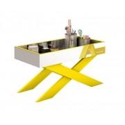 Aparador Espelhado JB 4023 Amarelo - JB Bechara