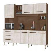 Armário de Cozinha Holanda 2.2 Amêndoa com Avelã - CSA Móveis