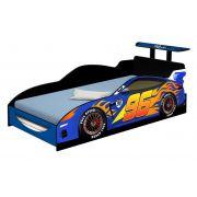 Cama Carro Speed Solteiro Azul - Divaloto Móveis