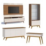 Conjunto Sala de Estar Rack com Painel +3G 2.2 + Buffet + Aparador + Cristaleira - Imcal Móveis