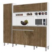Armário de Cozinha Completo Brasil 2.3 Branco com Ferrara - CSA Móveis