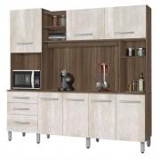 Armário de Cozinha Holanda 2.2 Noce com Ravena - CSA Móveis