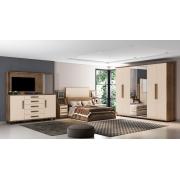 Dormitório Casal Estrela Freijó com Off White - RV Móveis