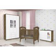 Dormitório para Bebê Completo Jolie Branco com Jequitibá - J&A Móveis