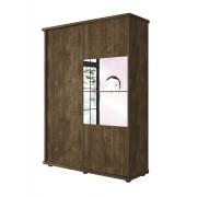 Guarda Roupa 2 Portas de Correr com espelhos Agata Imbuia - FabriMoveis