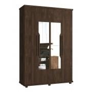 Guarda Roupa 4 Portas Ágata com espelho Noce - FabriMóveis